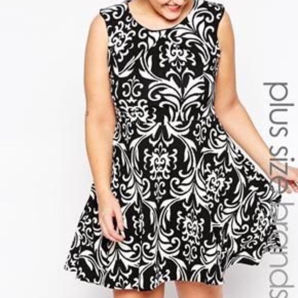 190c170840 ASOS Dresses   Skirts - ASOS Plus size Sleeveless Texture Skater Dress